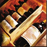 The Wine Collection I Stretched Canvas Print by Tandi Venter