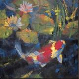 Water Garden I Stretched Canvas Print by Leif Ostlund