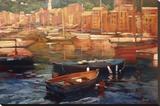 Anchored Boats, Portofino Reproduction sur toile tendue par Philip Craig