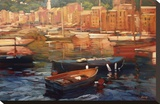 Anchored Boats, Portofino Stretched Canvas Print by Philip Craig