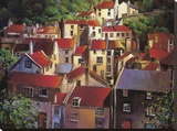 Rooftops II Stretched Canvas Print by Michael O'Toole