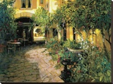 Alsace Courtyard Stretched Canvas Print by Philip Craig