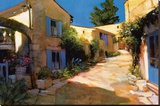 Village in Provence Stretched Canvas Print by Philip Craig