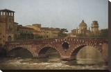 Ponte Pietra, Verona Stretched Canvas Print by Heather Jacks