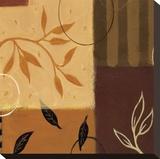 Leaf Poem II Stretched Canvas Print by Susan Dorf