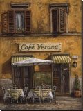 Cafe Verona Stretched Canvas Print by Malcolm Surridge