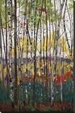 Voile De Montogne Stretched Canvas Print by Graham Forsythe