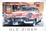 Pink Cadillac Posters by Ole Ziger