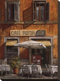 Cafe Roma Stretched Canvas Print by Malcolm Surridge