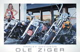 Harley Davidson Posters by Ole Ziger