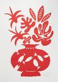 Vase II Rouge Poster von Marco Del Re