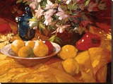 Still Life and Pears Stretched Canvas Print by Philip Craig
