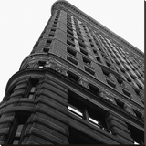 Flat Iron From Below Stretched Canvas Print by Philip Craig