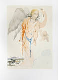 Angel with Cross Collectable Print by Salvador Dali