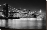 NYC Nights Stretched Canvas Print by Nina Papiorek