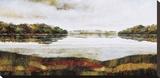 Haliburton Lake Stretched Canvas Print by Zenon Burdy