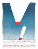 20 Ans D'Affiches Print by Jean Michel Folon