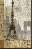 Paris au mois d'avril Reproduction transférée sur toile par Keith Mallett