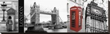A Glimpse of London Stretched Canvas Print by Jeff Maihara