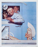 The Flirts Print by Norman Rockwell