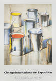 Chicago International Art Exposition Collectable Print by Wayne Thiebaud