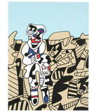 Inspection of the Territory Collectable Print by Jean Dubuffet