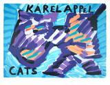 Gatos Impressão colecionável por Karel Appel