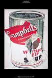 Big Torn Campbell&#39;s Soup Can (Vegetable Beef) Limited Edition by Andy Warhol