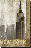 Un automne à New York Reproduction sur toile tendue par Keith Mallett