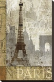 April in Paris Stretched Canvas Print by Keith Mallett