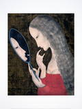Young Girl with Mirror Limited Edition by Tsuguharu Foujita