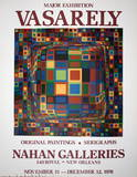 Nahan Galleries Collectable Print by Victor Vasarely