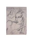 "Study for ""The Blue Scarf"" Prints by Tamara de Lempicka"