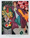 Femme en manteau pourpre Affiches par Henri Matisse