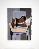 Guitar on a Table Print van Pablo Picasso