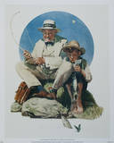 Catching the Big One Poster by Norman Rockwell