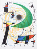 Litografia original V Collectable Print by Joan Miró