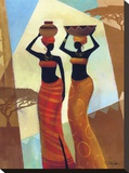 Sisters Stretched Canvas Print by Keith Mallett