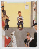 Waiting for the Vet Affiches par Norman Rockwell