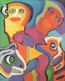 Smiling Together Limited Edition by Karel Appel