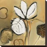 Lily Pond I Sträckt Canvastryck av Natasha Barnes