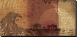 Safari Sunset II Reproducción en lienzo de la lámina por Tandi Venter