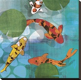Lucky Koi II Stretched Canvas Print by Tandi Venter