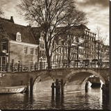 Autumn in Amsterdam II Stretched Canvas Print by Jeff Maihara