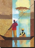 On the River I Stretched Canvas Print by Keith Mallett