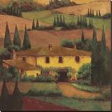 Tuscany Villa Stretched Canvas Print by Montserrat Masdeu