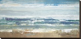 Pastel Waves Stretched Canvas Print by Peter Colbert