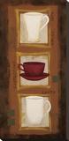 Cafe Jazz Stretched Canvas Print by Rita Vindedzis
