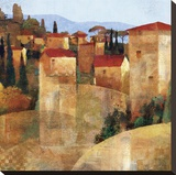 Tuscan Hillside Stretched Canvas Print by Keith Mallett