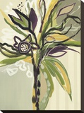 Serene Floral I Stretched Canvas Print by Angela Maritz